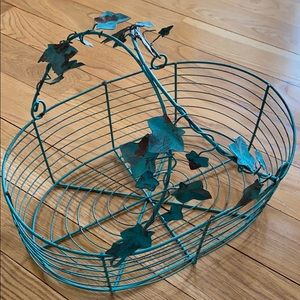 Wire Basket with Vines